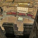 piazza del Campo vista da in cima la torre