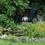 The summerhouse and pond