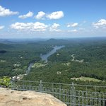 View from top of Chimney Rock.
