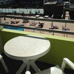 Balcon - vue piscine