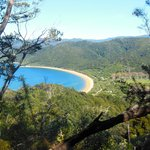 Wiew over the bay in Abel Tasman National Park