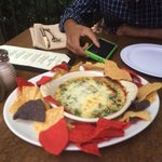 Amazing crab spinach dip