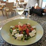 Greek salad with barley rusk