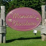 Monica's Chocolates - Street sign