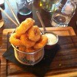 Calamari n garlic dip mmmmmmh