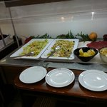 salad bar made up of leftovers