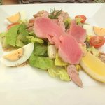 Salad with cold fish