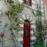 Picturesque doorway within the courtyard