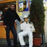 cerca del hotel...una escultura de Al Capone