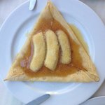 Crepe with banana