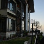 The picturesque hotel front - overlooking the Kangra Valley