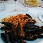Spaghettis avec des moules : excellentes !