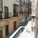 Vista desde el pequeño balcón de la habitación