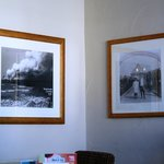 Pictures of old Morecambe on the wall