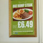 The steak as advertised