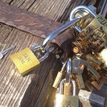Our love lock. Let's see if it's here in a few years!