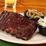 Half Slab of our award-winning St. Louis-style, Slow, Hickory-Smoked Ribs