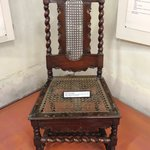 Chair from the Dutch period displayed in the museum