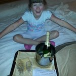fizz sent for my birthday!!! (the child pictured did not drink any haha!!!)