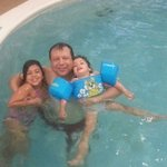 Swimming with my 2 girls in the indoor pool