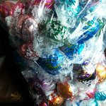 Loot garnered at the Lindt outlet store. Delicious, and the variety was really impressive!