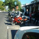 Every Sunday morning the bikers visit us for breakfast