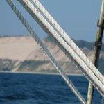 Sailing off Frankfort 2012 BIG Sand Dunes