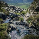 Refreshing and cold mountain stream