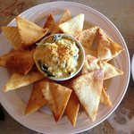 Spinach and Artichoke Dip with Naan Bread = WOW