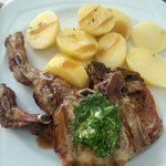 pork chops with potatoes - delicious