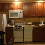 Kitchen area in room