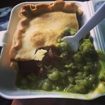 Steak pie and mushy peas!!