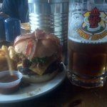 The Burger That Ate Moncton and a nice Big Beer.
