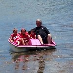 Fun times on the pedal boat