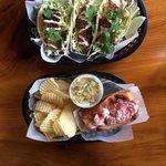 Lobster Roll + Fish Tacos