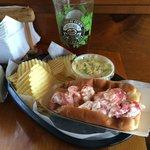 Lobster Roll + Gritty McDuff's Maine's Best IPA