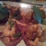 Bang Bang Shrimp on feta bread... yummy