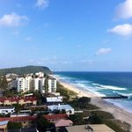 View towards Burleigh Heads from room
