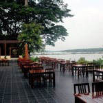 Restaurant mit Mekongblick