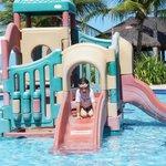 Parque na piscina