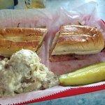 Cuban Sandwich with potato salad!