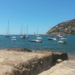The view from our table at Cala Llamp