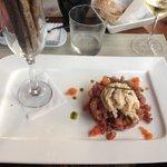 tartaar van tonijn met ijs van ganzelever