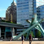 Olympic torch sculpture  from the Vancouver Olympics.
