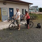 The Richer family from Montreal took our tandem down the Confederation Trail