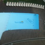 View of bottom pool from my balcony