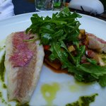 Red mullet with mediterranean vegetables