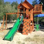 Our new tri level playset