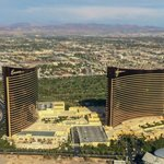 """I can see my room from here!!"" View of the Wynn from the helicopter..."