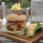 Vegetarian burger , DELICIOUS !!